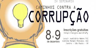Seminário no TCESP discutirá ações e medidas de combate à corrupção