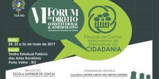 TCE-RO abre VI Fórum na quarta-feira com a participação de renomados juristas e ministros do STF