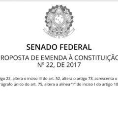 PEC 22/2017: proposta da Atricon para reforma dos Tribunais de Contas começa a tramitar no Senado
