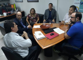 Dirigentes do Ibraop são recebidos pelo presidente da Atricon