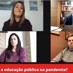 """CTE-IRB participa do webnário """"Como fica a educação pública na pandemia?"""""""