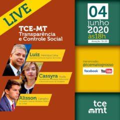 Live sobre transparência e controle social será nesta quinta-feira, 04