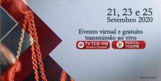 TCE-PB: Webcongresso Paraibano de Direito Administrativo Sancionador vai reunir grandes nomes do direito brasileiro