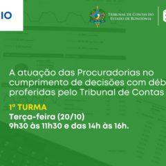 Procuradores municipais e autárquicos participarão de webinário promovido pelo TCE-RO e pela PGE/TC